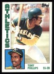 1984 Topps #309  Tony Phillips  Front Thumbnail