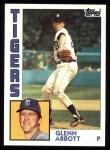 1984 Topps #356  Glenn Abbott  Front Thumbnail