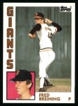 1984 Topps #428  Fred Breining  Front Thumbnail