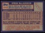 1984 Topps #442  Byron McLaughlin  Back Thumbnail