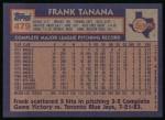 1984 Topps #479  Frank Tanana  Back Thumbnail