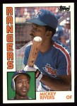 1984 Topps #504  Mickey Rivers  Front Thumbnail
