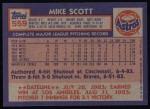 1984 Topps #559  Mike Scott  Back Thumbnail