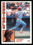 1984 Topps #580  Lonnie Smith  Front Thumbnail