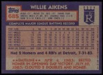 1984 Topps #685  Willie Aikens  Back Thumbnail
