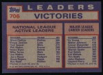 1984 Topps #706   -  Tom Seaver / Fergie Jenkins / Steve Carlton NL Active Career Victory Leaders Back Thumbnail