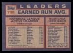 1984 Topps #708   -  Steve Carlton / Tom Seaver / Steve Rogers NL Active Career ERA Leaders Back Thumbnail