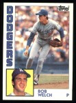 1984 Topps #722  Bob Welch  Front Thumbnail