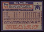 1984 Topps #769  Bill Caudill  Back Thumbnail