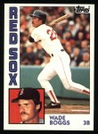 1984 Topps #30  Wade Boggs  Front Thumbnail