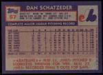 1984 Topps #57  Dan Schatzeder  Back Thumbnail