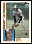 1984 Topps #86  John Shelby  Front Thumbnail