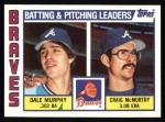 1984 Topps #126   -  Dale Murphy / Craig McMurtry Braves Leaders & Checklist Front Thumbnail