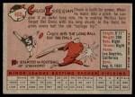 1958 Topps #460  Chuck Essegian  Back Thumbnail