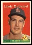 1958 Topps #180  Lindy McDaniel  Front Thumbnail