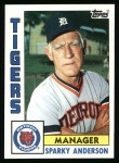 1984 Topps #259  Sparky Anderson  Front Thumbnail