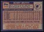 1984 Topps #261  Bobby Brown  Back Thumbnail