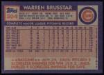1984 Topps #304  Warren Brusstar  Back Thumbnail