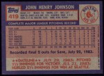 1984 Topps #419  John Johnson  Back Thumbnail