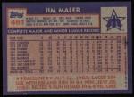 1984 Topps #461  Jim Maler  Back Thumbnail