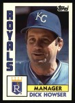 1984 Topps #471  Dick Howser  Front Thumbnail