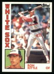 1984 Topps #480  Ron Kittle  Front Thumbnail
