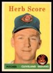 1958 Topps #352  Herb Score  Front Thumbnail