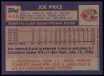 1984 Topps #686  Joe Price  Back Thumbnail