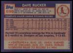 1984 Topps #699  Dave Rucker  Back Thumbnail