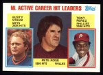 1984 Topps #702   -  Pete Rose / Tony Perez / Rusty Staub NL Active Career Hits Leaders Front Thumbnail