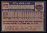 1984 Topps #774  Tom Gorman  Back Thumbnail