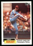 1984 Topps #1   -  Steve Carlton Highlight - 300th Win Front Thumbnail