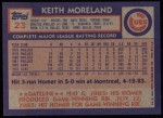 1984 Topps #23  Keith Moreland  Back Thumbnail