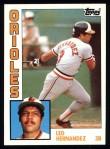1984 Topps #71  Leo Hernandez  Front Thumbnail