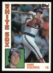 1984 Topps #72  Mike Squires  Front Thumbnail