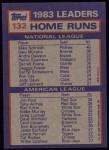 1984 Topps #132  Jim Rice / Mike Schmidt  Back Thumbnail