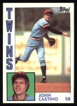 1984 Topps #237  John Castino  Front Thumbnail