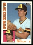 1984 Topps #290  Dave Dravecky  Front Thumbnail