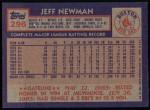 1984 Topps #296  Jeff Newman  Back Thumbnail