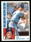 1984 Topps #298  Jim Gantner  Front Thumbnail