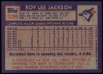 1984 Topps #339  Roy Lee Jackson  Back Thumbnail