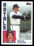 1984 Topps #375  Dennis Leonard  Front Thumbnail