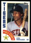 1984 Topps #398   -  Lou Whitaker All-Star Front Thumbnail