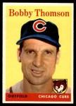 1958 Topps #430  Bobby Thomson  Front Thumbnail