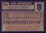 1984 Topps #417  Mike Armstrong  Back Thumbnail