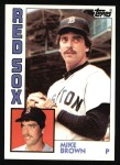 1984 Topps #472  Mike Brown  Front Thumbnail