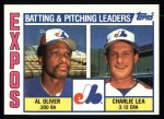 1984 Topps #516   -  Charlie Lea / Al Oliver Expos Leaders & Checklist Front Thumbnail
