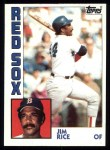 1984 Topps #550  Jim Rice  Front Thumbnail
