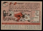 1958 Topps #383  Lou Berberet  Back Thumbnail