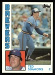1984 Topps #630  Ted Simmons  Front Thumbnail